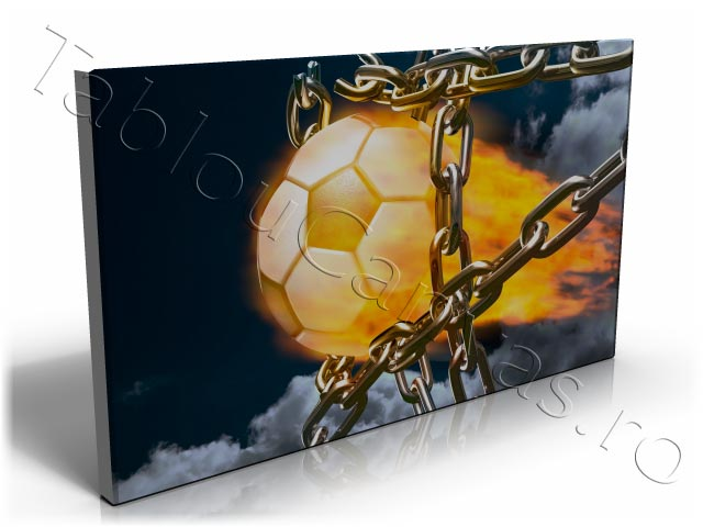 Fire Football Goal in Chain