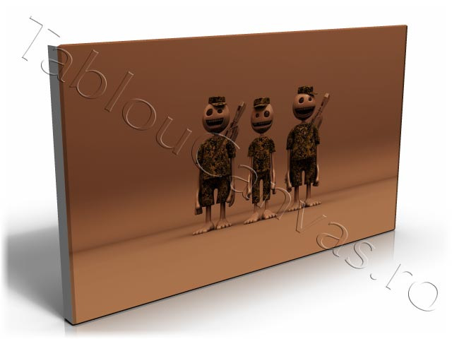 Three Soldiers in 3D